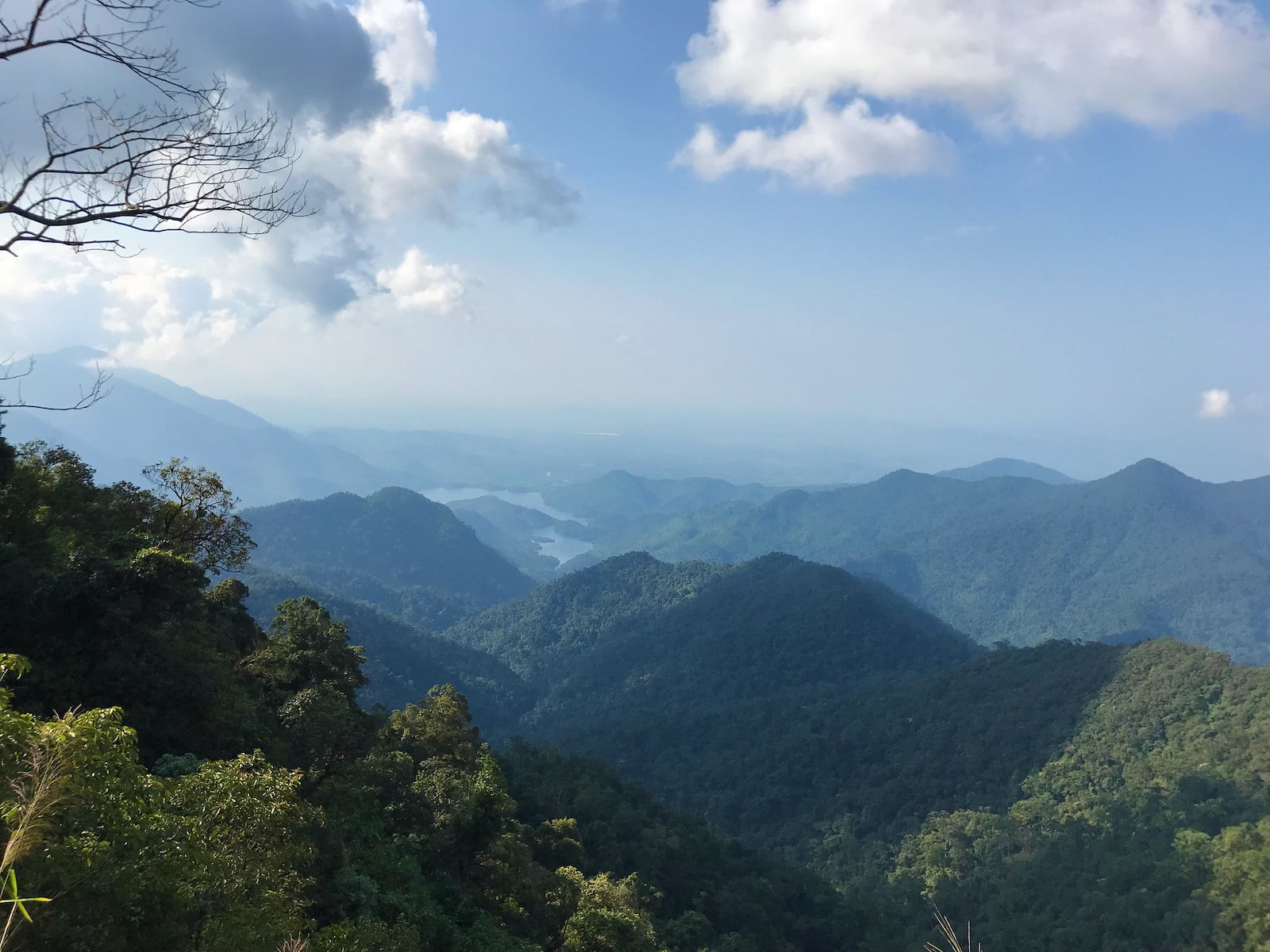 Image of rolling mountains in Bach Ma National Park in Hue, Vietnam