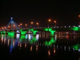 Image of the Han River Bridge in Da Nang, Vietnam