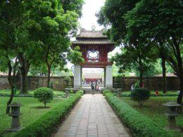 Image of the Temple of Literature in Hanoi, Vietnam