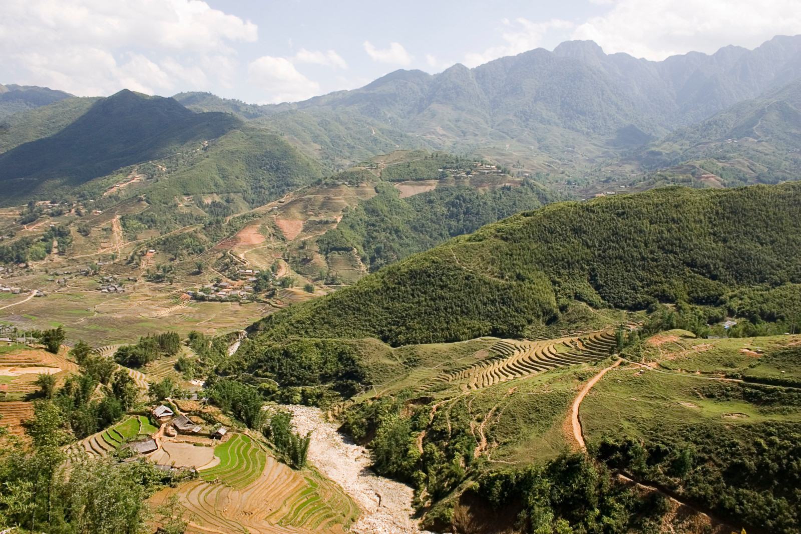 Image of the Hoang Lien Son Range from Sapa