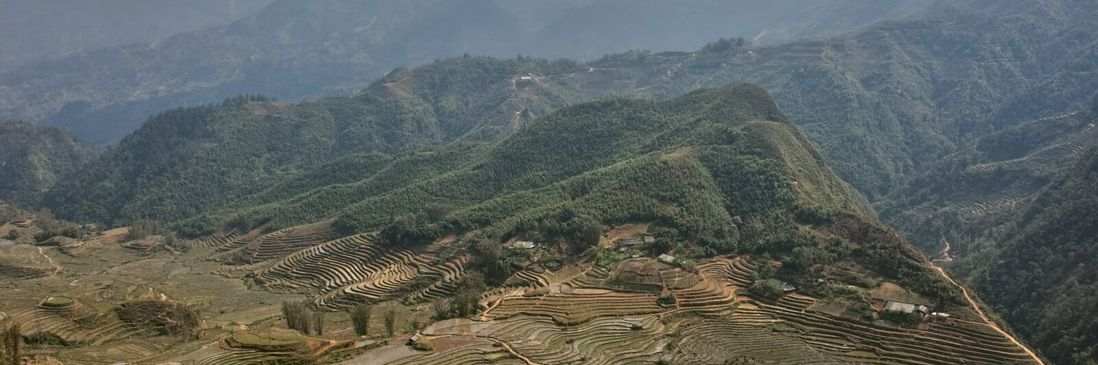Image of the Hoang Lien Son Mountain Range in northern Vietnam