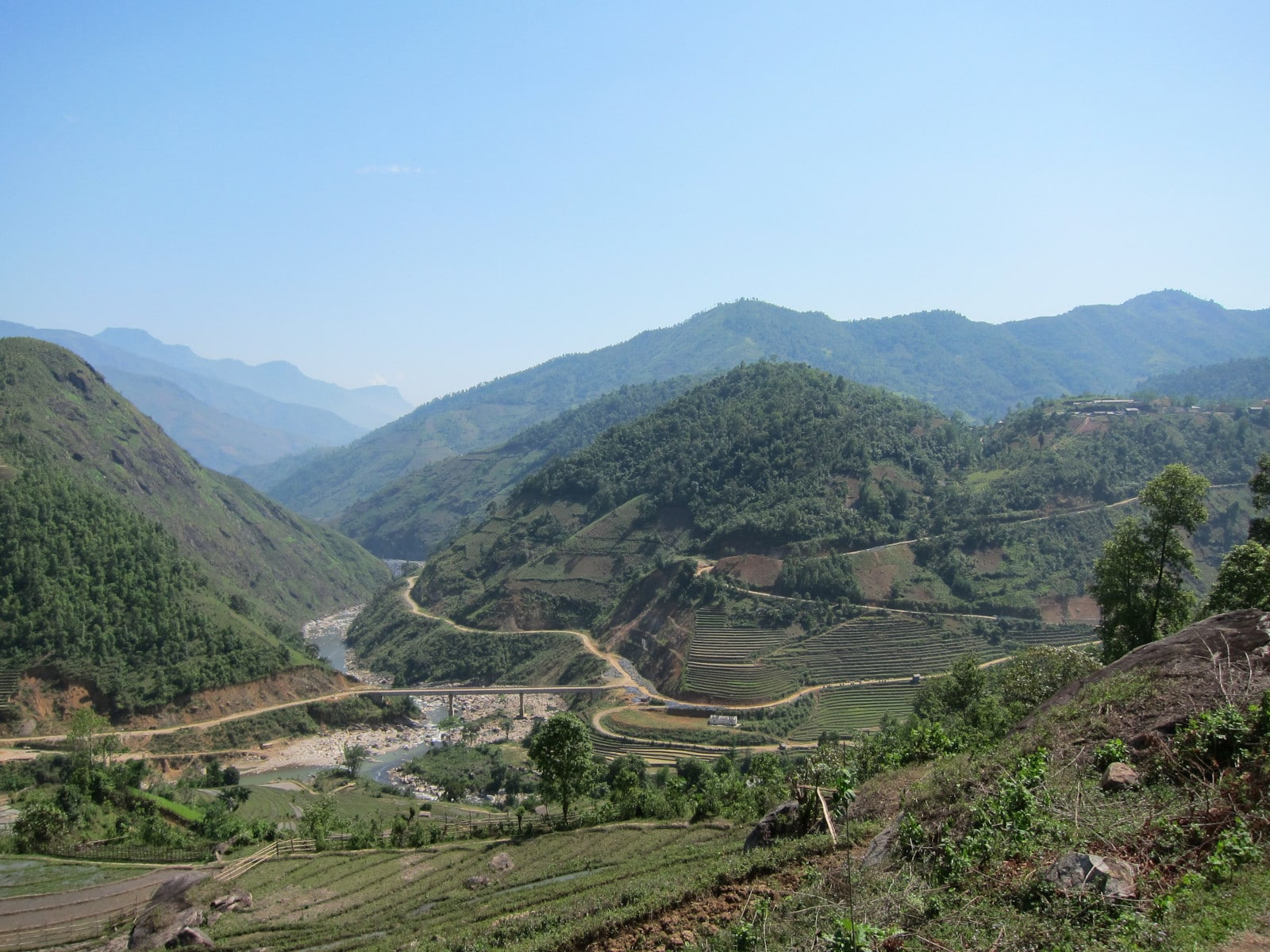Image of the Hoang Lien Son Range in Northern Vietnam