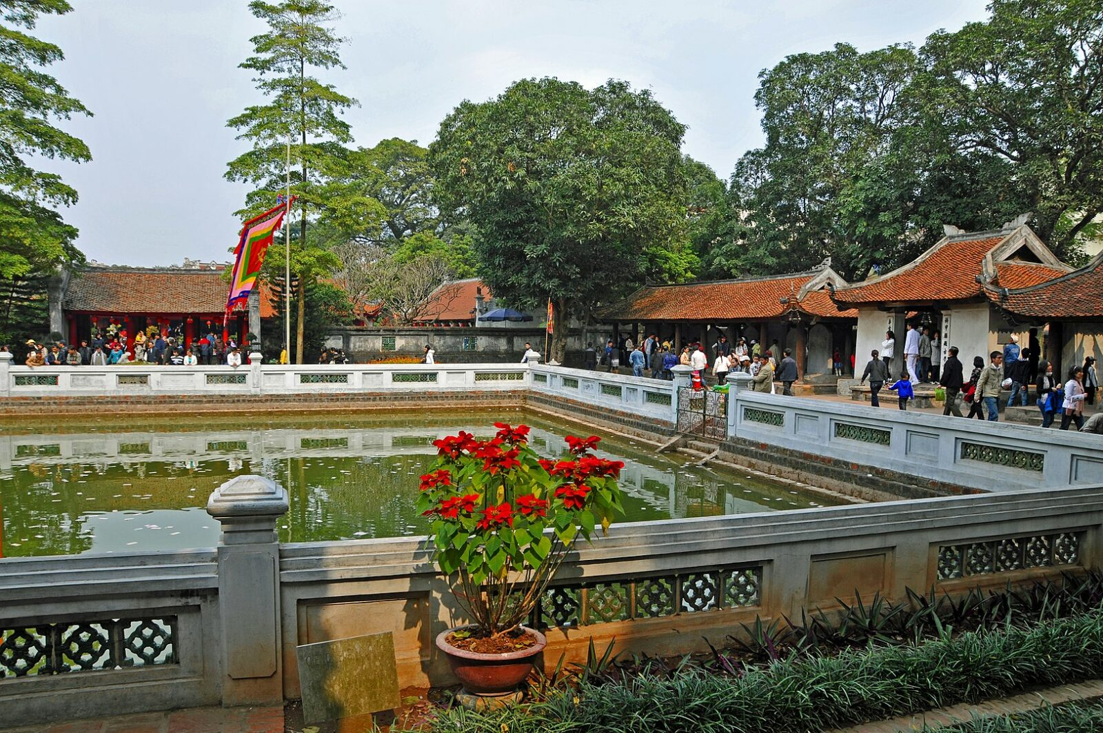 Image of the Khuc Can Cac Pavilion in the Temple of Literature in Hanoi, Vietnam