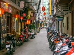 Image of an alley in Little Japan, HCMC, Vietnam