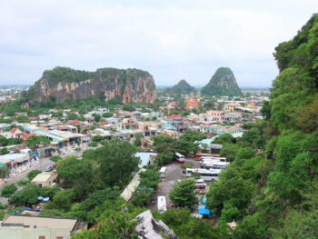 Image of a colorful view from the Marble Mountains in Vietnam
