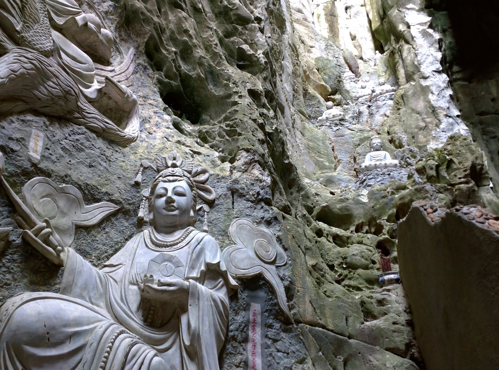 Image of carvings in the Marble Mountains in Da Nang, Vietnam