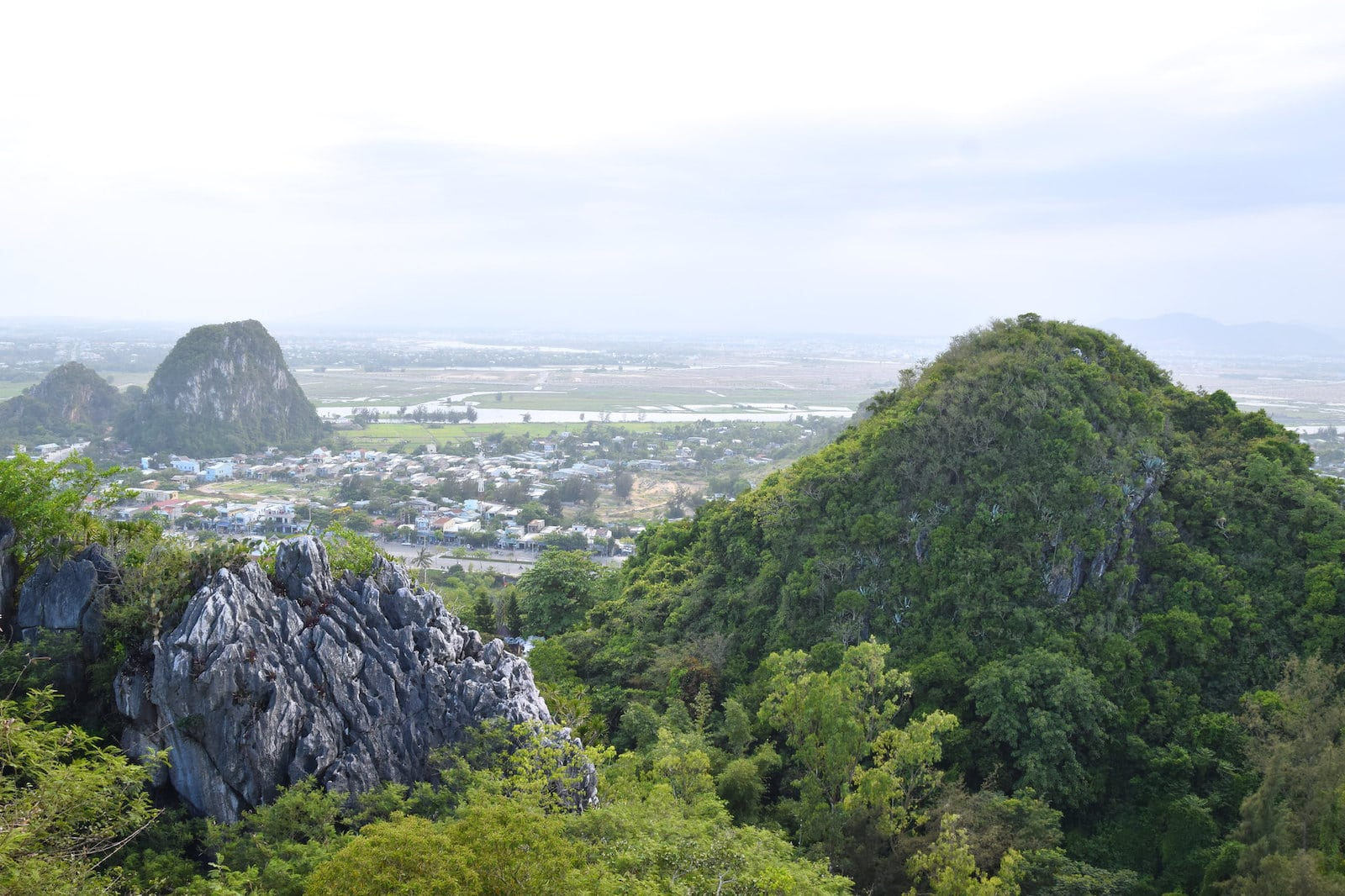 Image of the view from the Marble Mountains in Danang, Vietnam