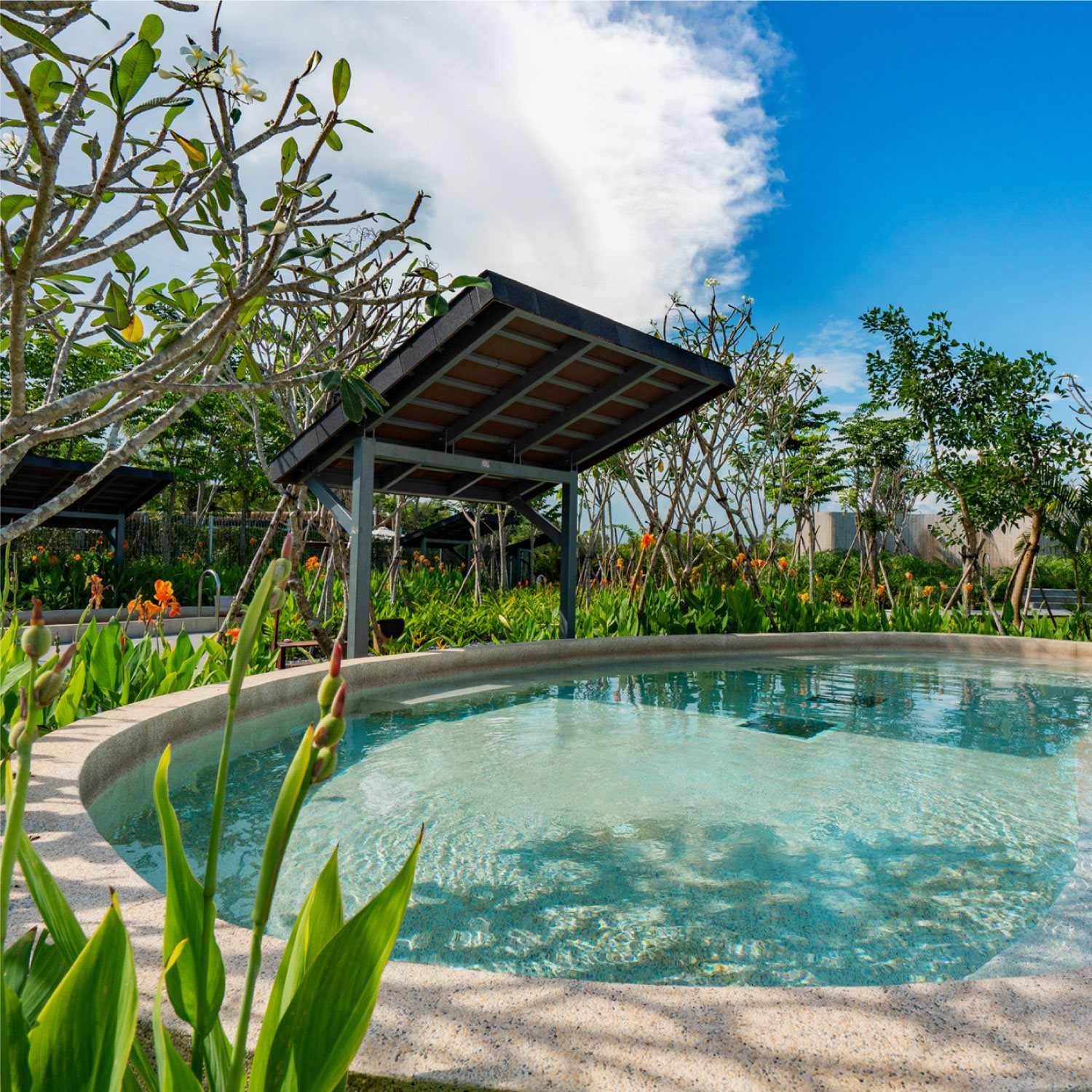 Image of a outdoor pool at Minera Hot Springs Binh Chau in Vietnam