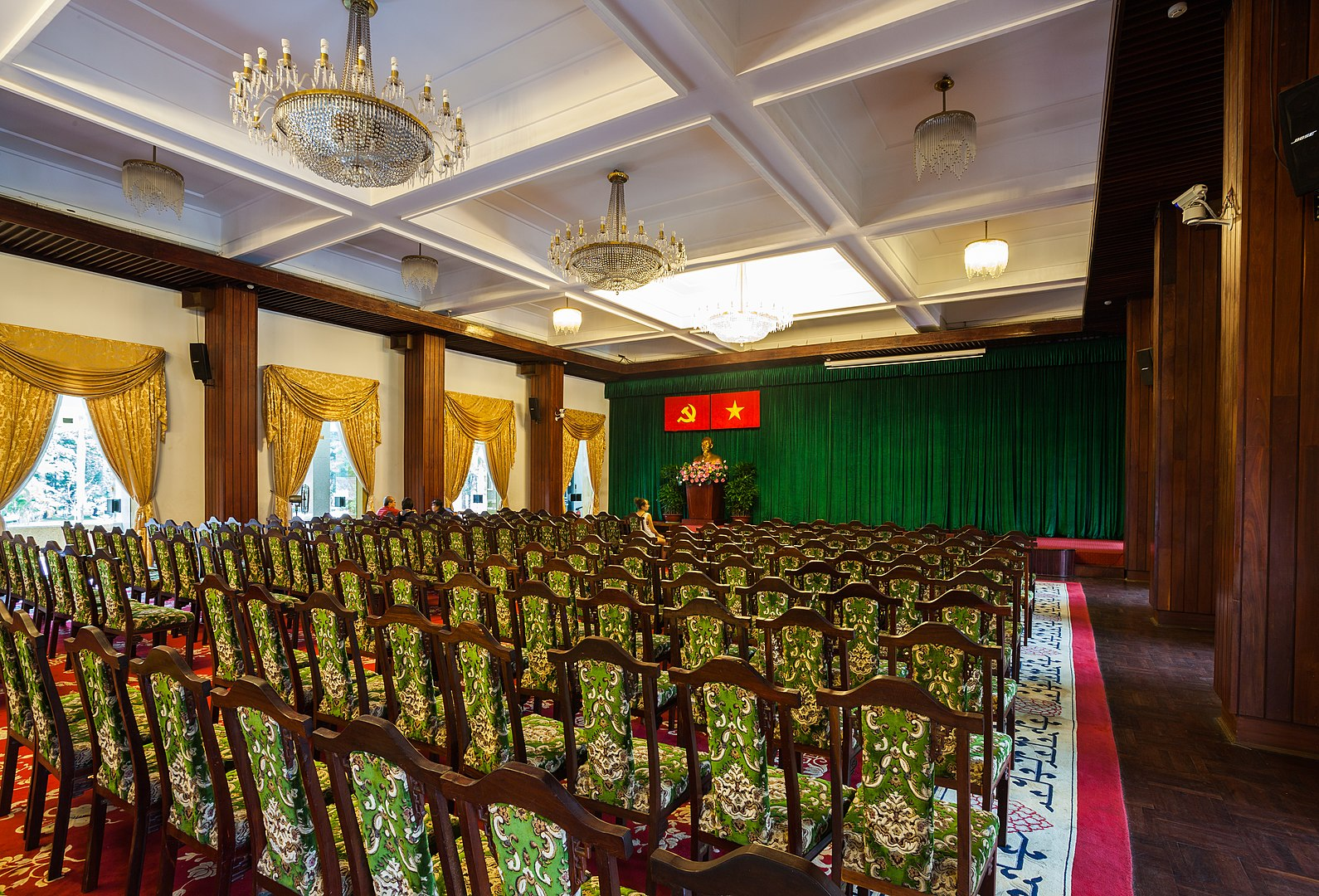 Image of a conference room in the Reunification Palace in Ho Chi Minh City, Vietnam