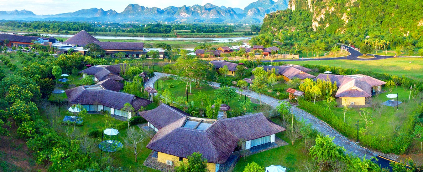 Image of the accommodations at the Serena Resort Kim Boi in Vietnam