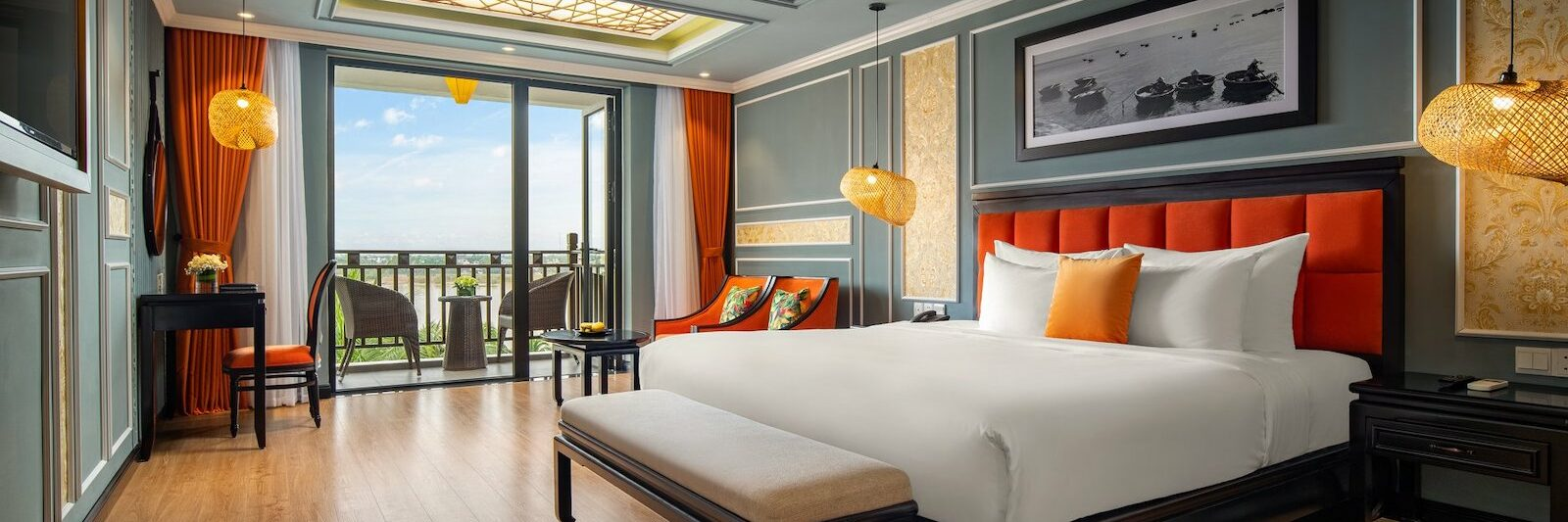 Image of the Silk Marina Resort & Spa - Mulberry Collection bedroom in Hoi An, Vietnam