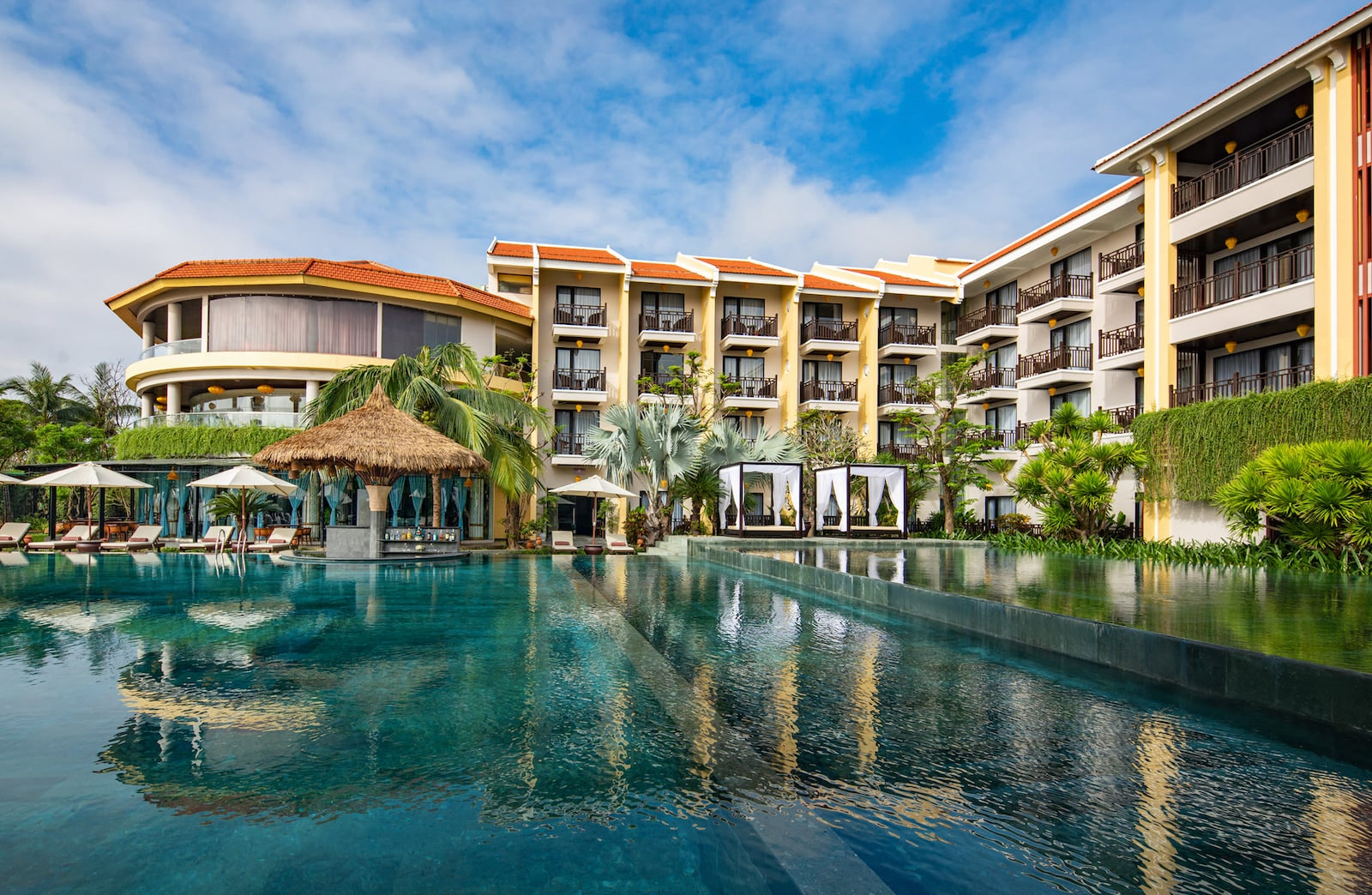 Image of the pool at the Silk Marina Resort and Spa - Mulberry Collection in Hoi An, Vietnam