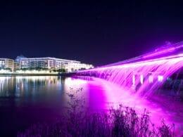 Image of the Starlight Bridge in HCMC at night