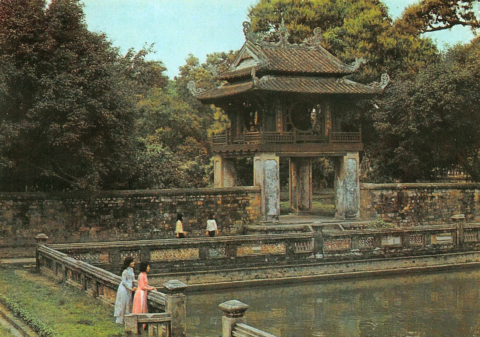 Image of the Temple of Literature in the 1970s in Hanoi, Vietnam