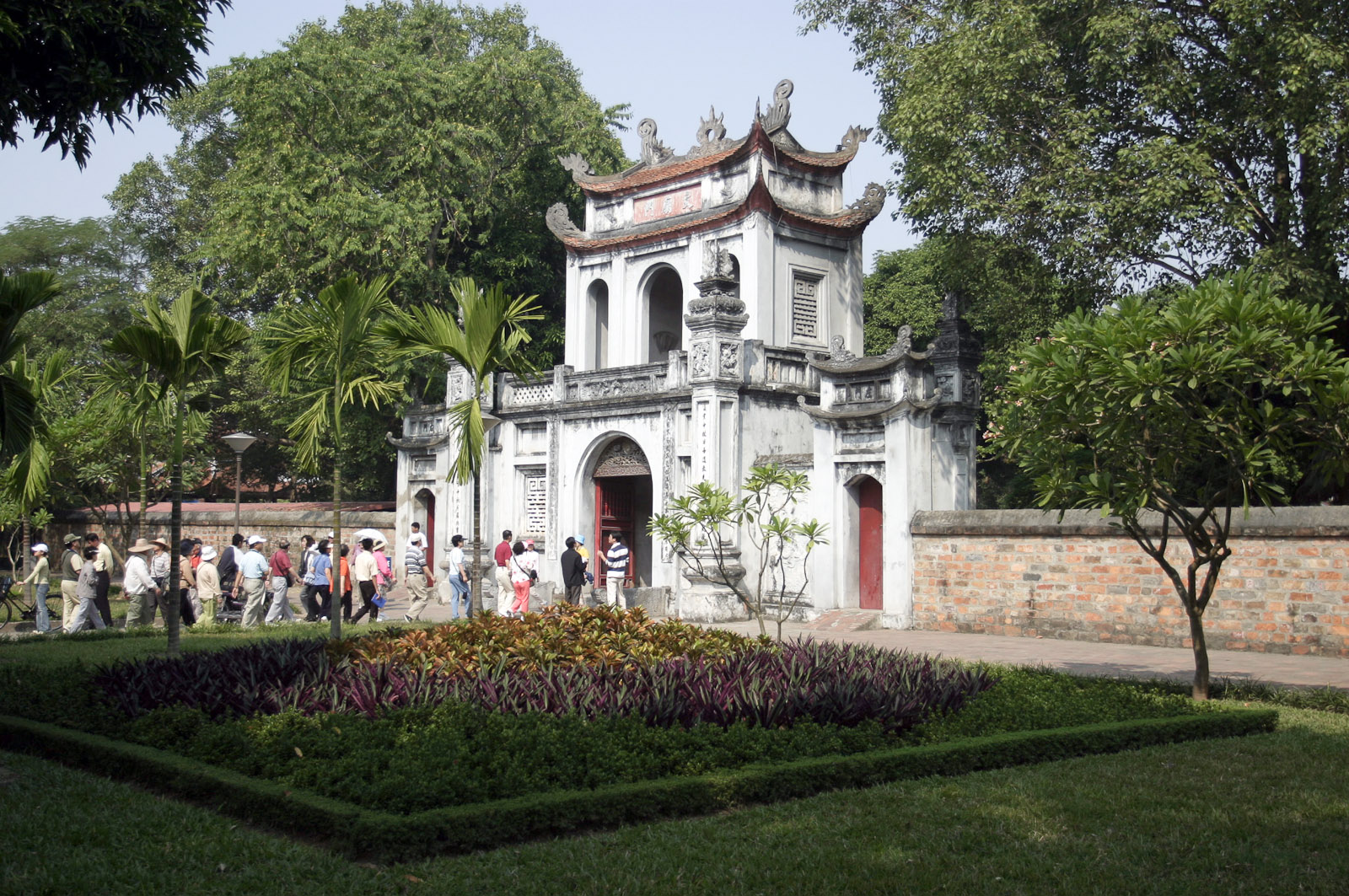 Image of the Main Gate at the Temple of Literature in Hanoi, Vietnam