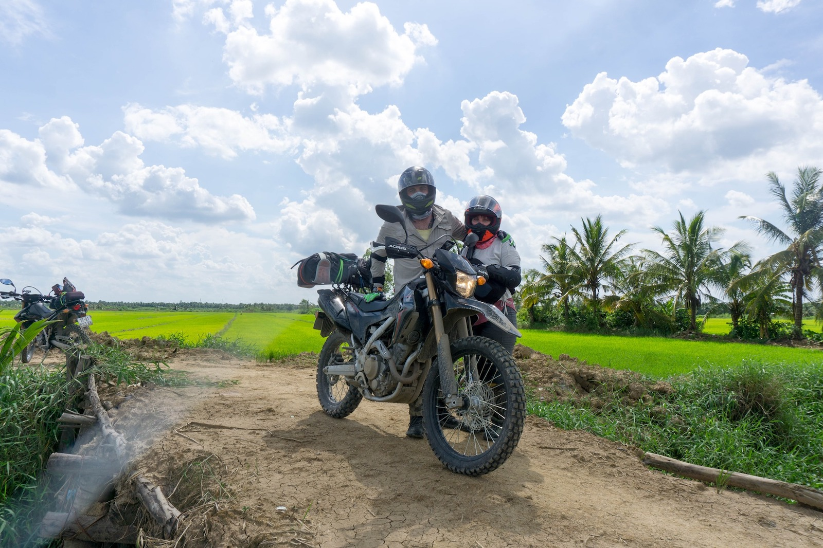 Image of a couple motorbiking together
