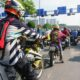 Image of rush hour in Saigon while on a motorbike