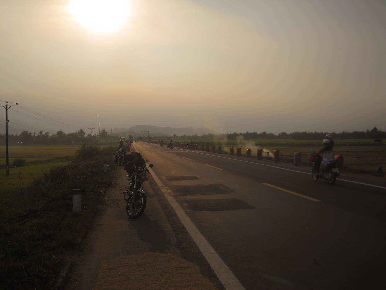 Image of the road on the trip south to north in vietnam