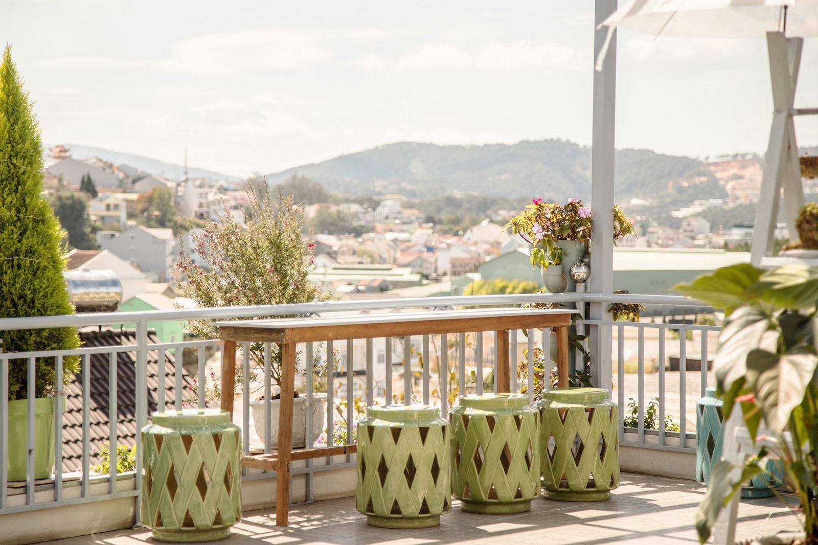 Image of the view from the rooftop at Nhà của Người và Ta homestay in Dalat, Vietnam