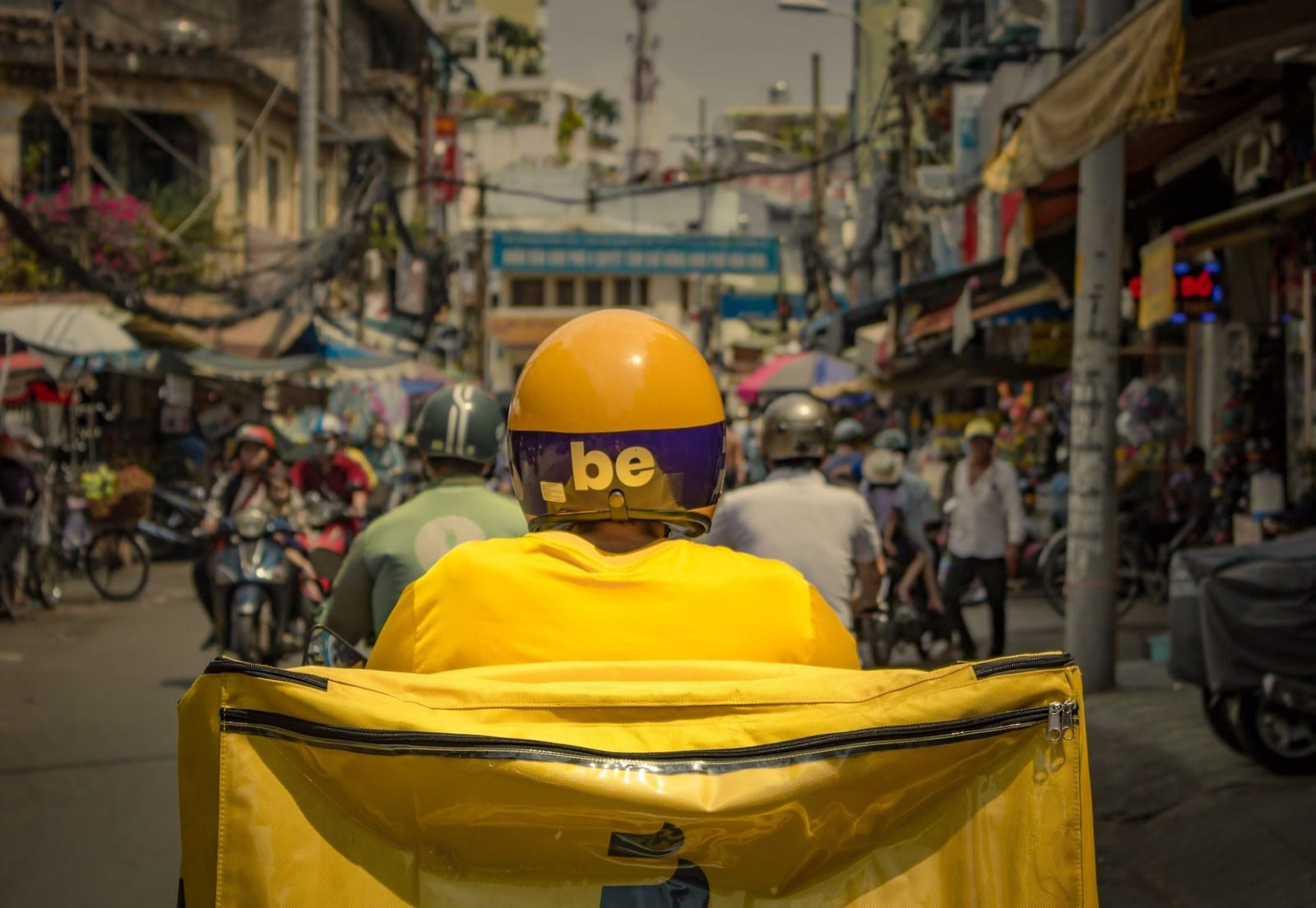 Image of a Be driver in Vietnam
