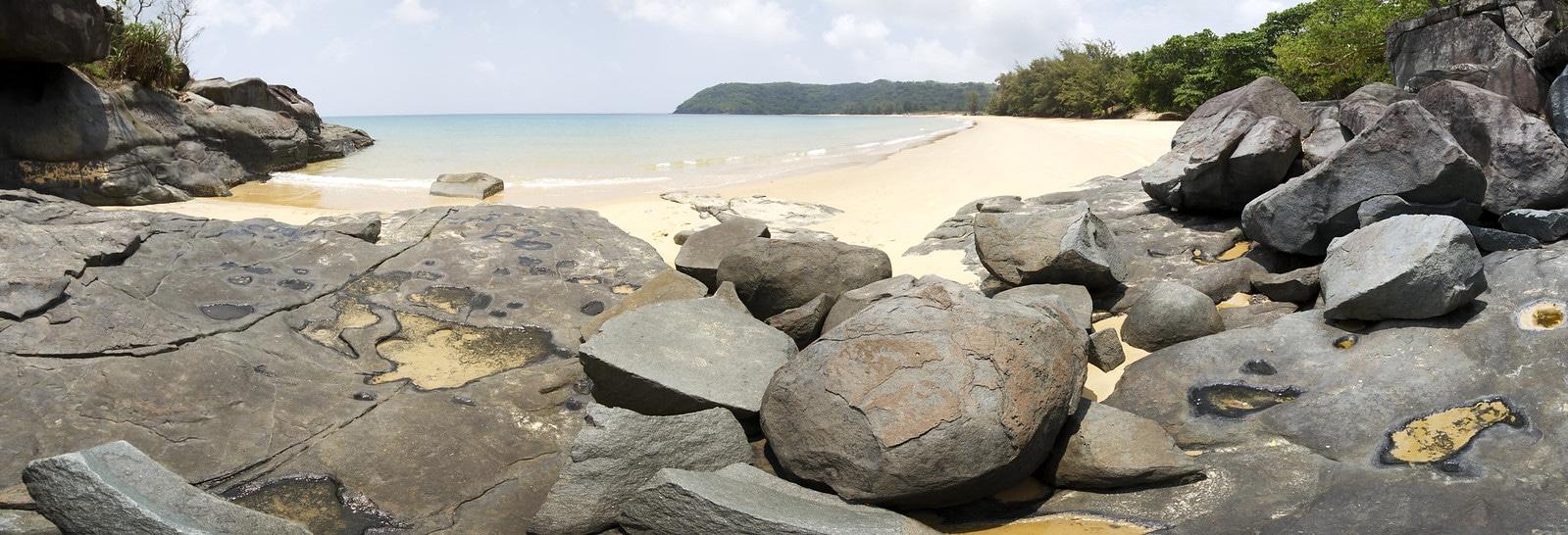 Beach in Con Dao National Park Vietnam