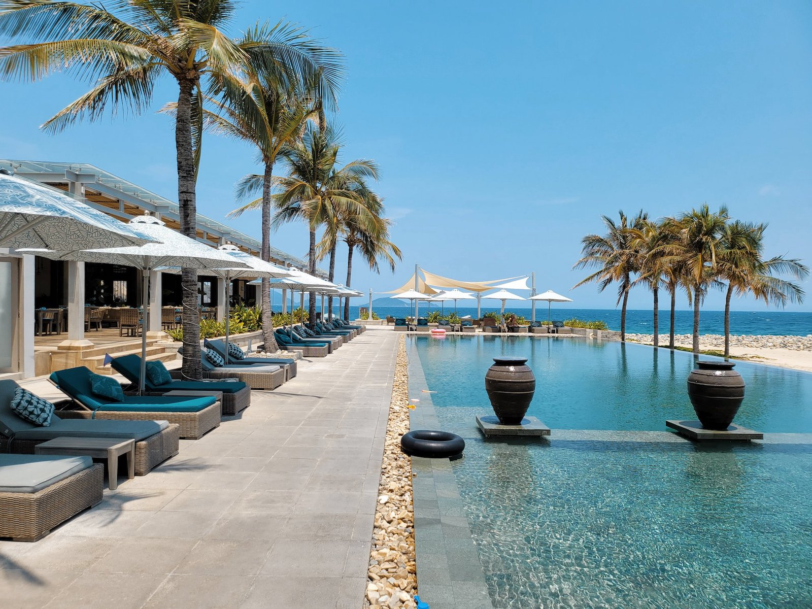 Image of the pool at the Mia Resort Nha Trang in Vietnam