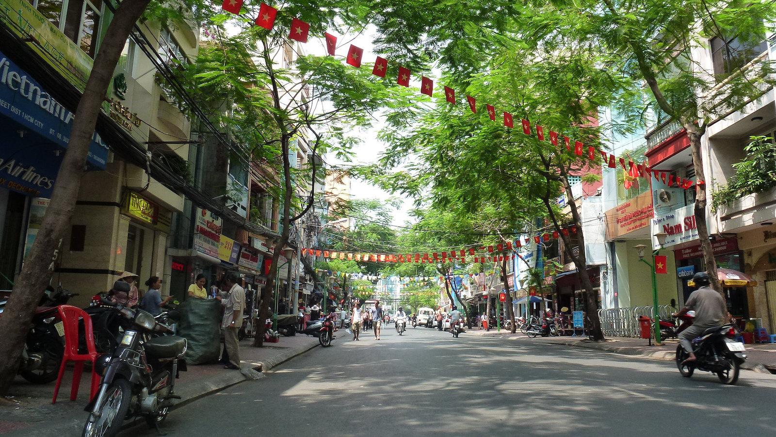Image of a street in Saigon, Vietnam