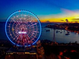 Image of the Sun Wheel at Sun World Da Nang Wonders - Asia Park in Vietnam