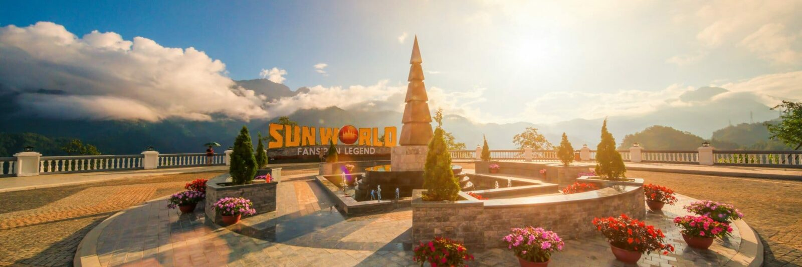 Image of the entrance sign to Sun World Fansipan Legend in Sapa, Vietnam