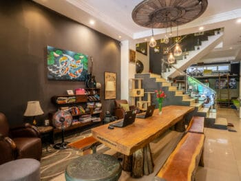 Image of the lobby at The Common Room Project in HCMC, Vietnam