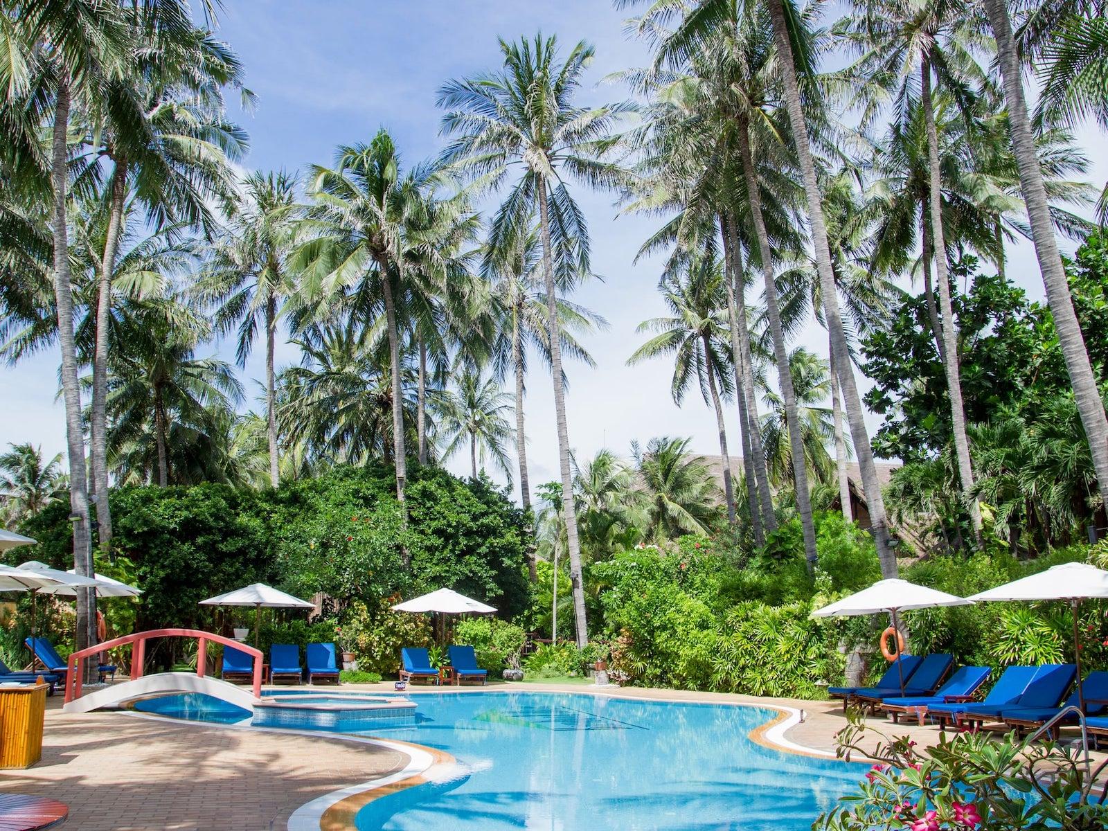Image of the pool at the Bamboo Village Beach Resort & Spa in Mui Ne, Vietnam