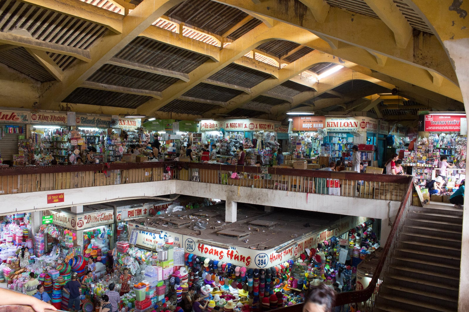 Image of the interior of the Cho Binh Tay Market interior in HCMC, Vietnam