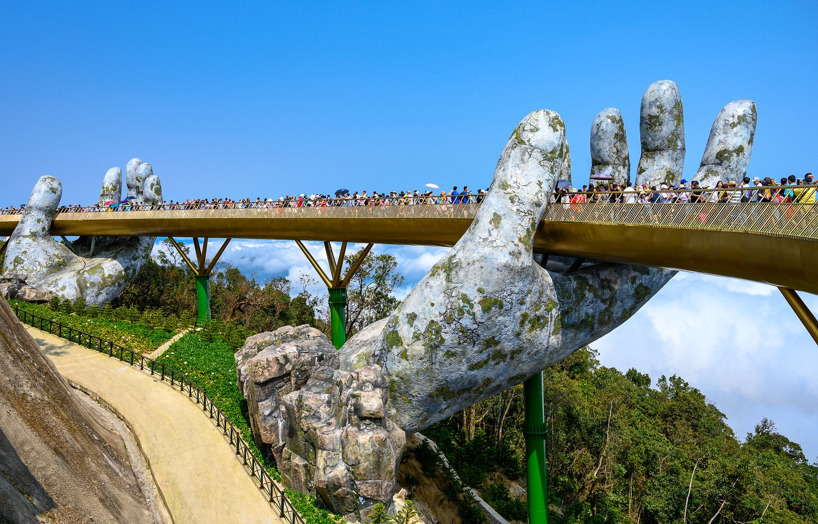 The Golden Bridge in Da Nang Vietnam