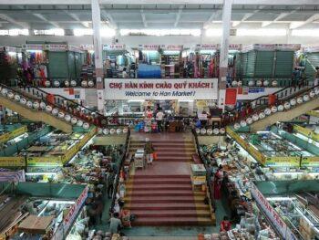 Image of the Han Market interior in Da Nang, Vietnam