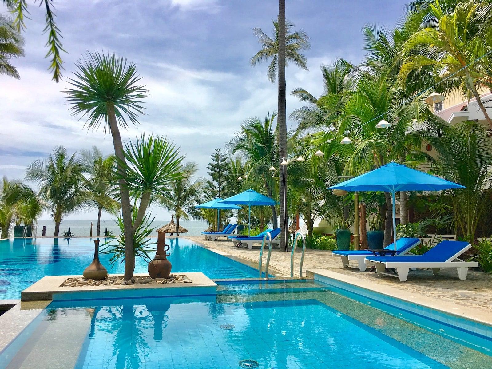 Image of the Ravenala Boutique Resort Mui Ne pool in Vietnam