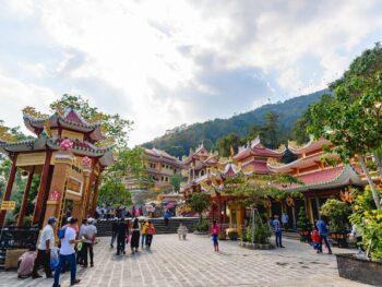 Image of the pagodas at Sun World BaDen Mountain in Vietnam