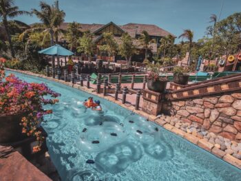 Image of the water park area in the Sun World Hon Thom Nature Park in Vietnam