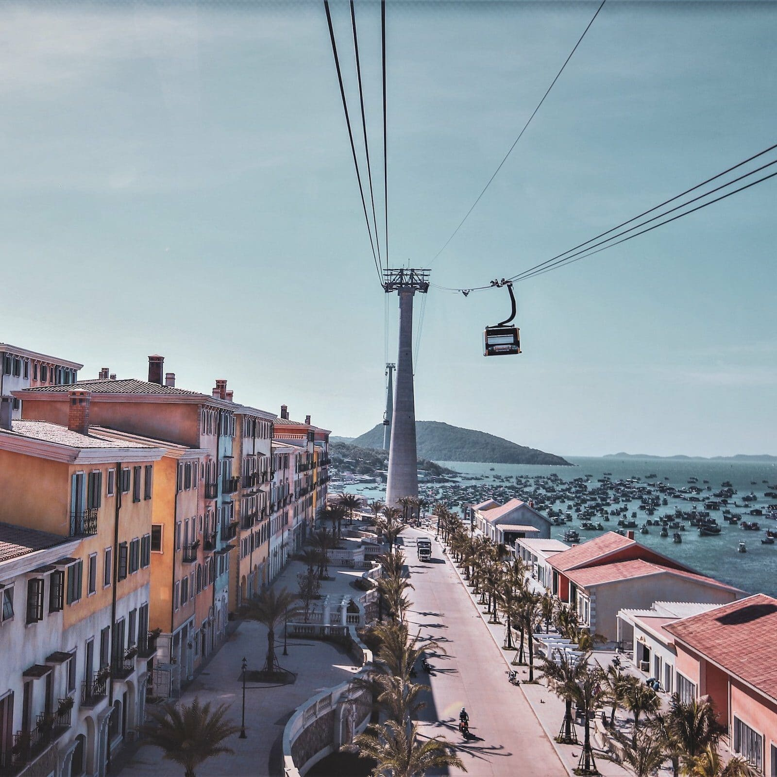 Image of the cable car in Sun World Hon Thom Nature Park in Vietnam