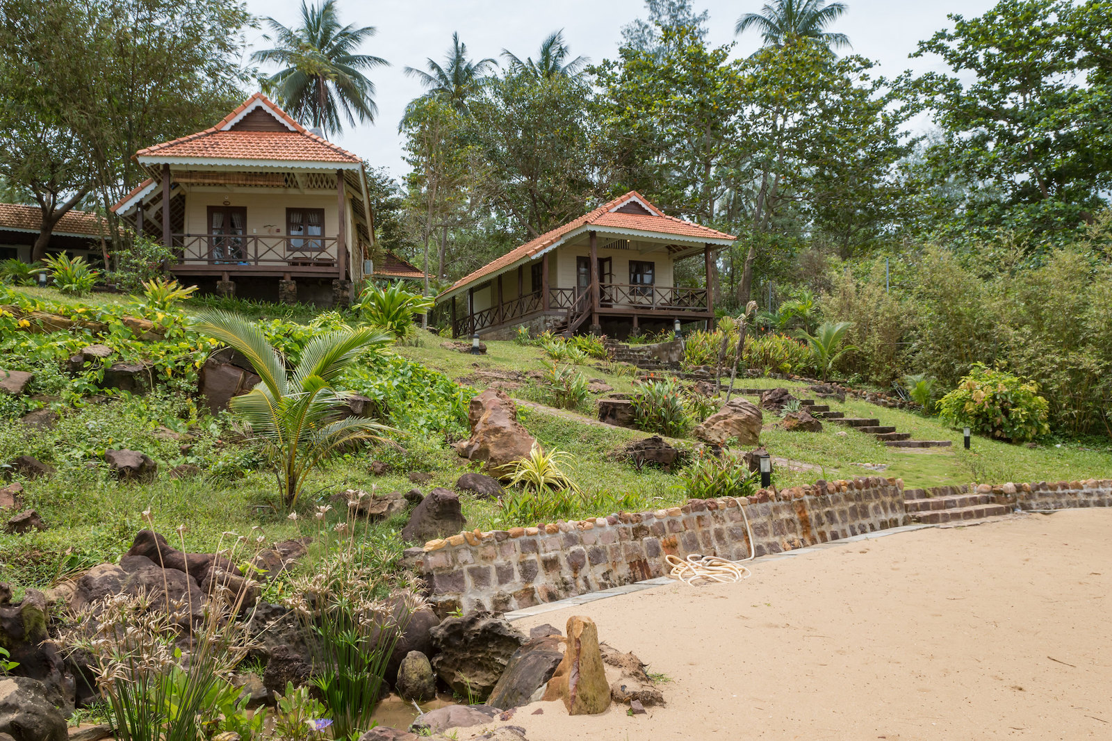 Image of beach bungalows in Phu Quoc, Vietnam