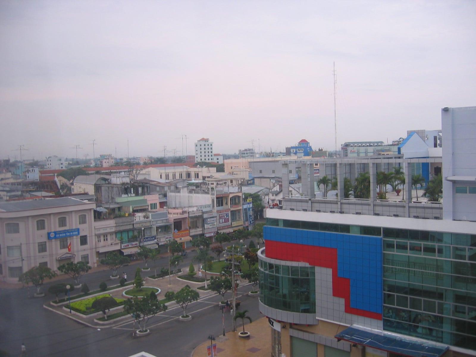 City View of Long Xuyen Vietnam