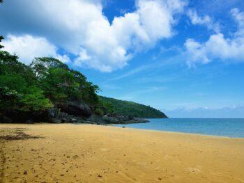Empty Beach in Con Dao Vietnam