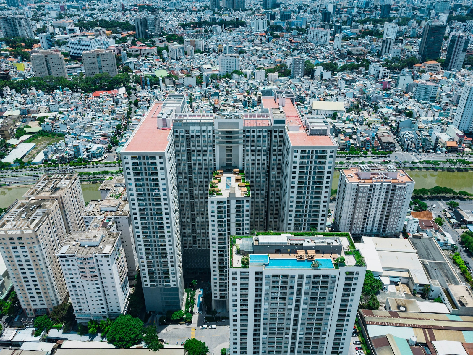 Image of the Gold View Apartment building in District 6, HCMC, Vietnam