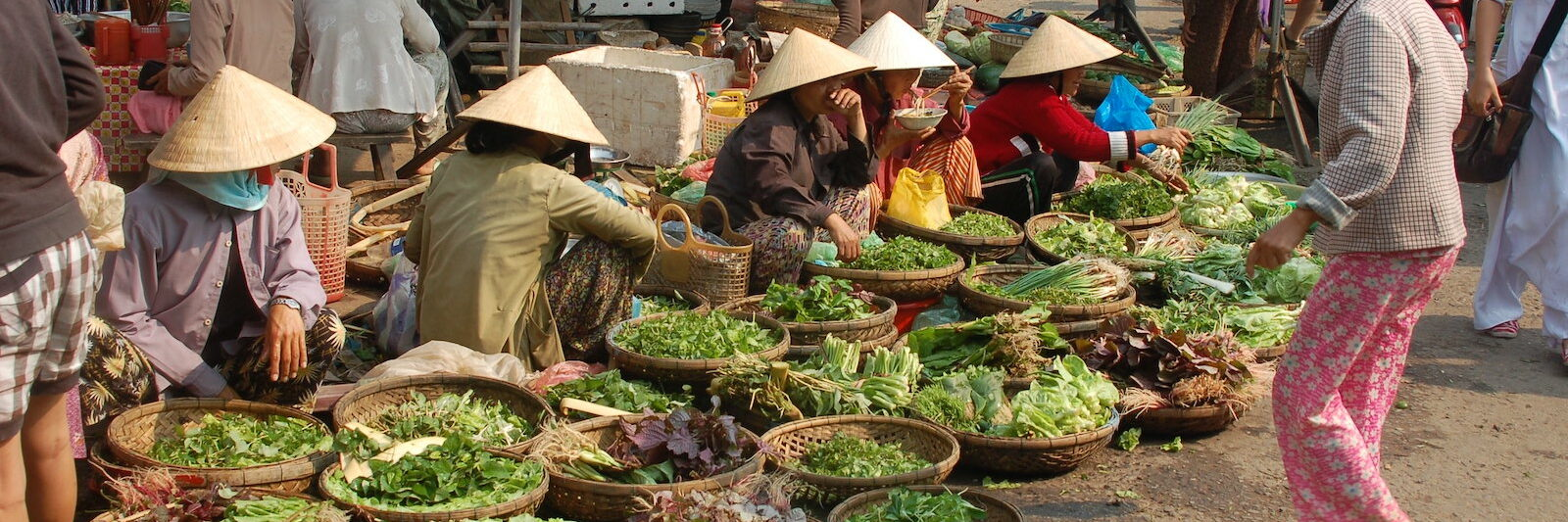Image of a day market in Hoi An, Vietnam