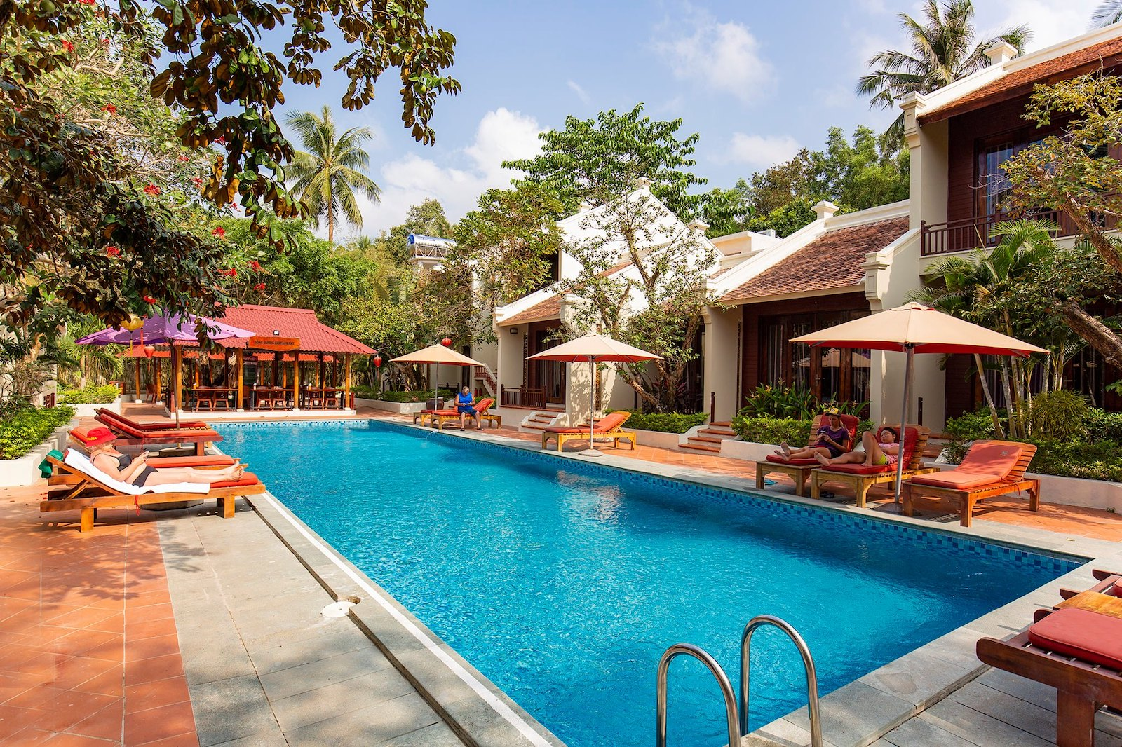 Image of the pool at the Hoi An Phu Quoc Resort in Vietnam