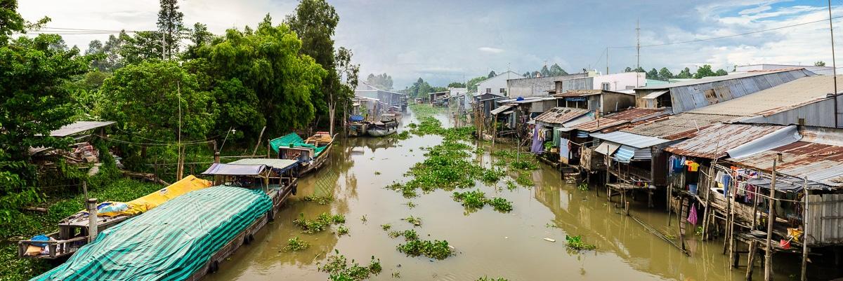 Life on the River in Long Xuyen Vietnam