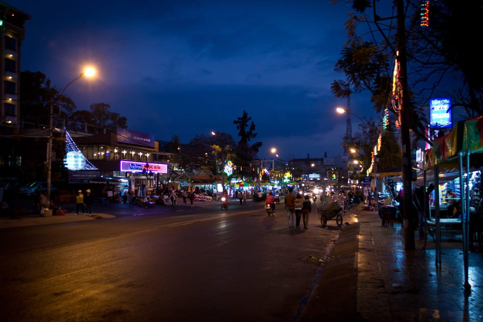 Nightime in Da Lat Vietnam
