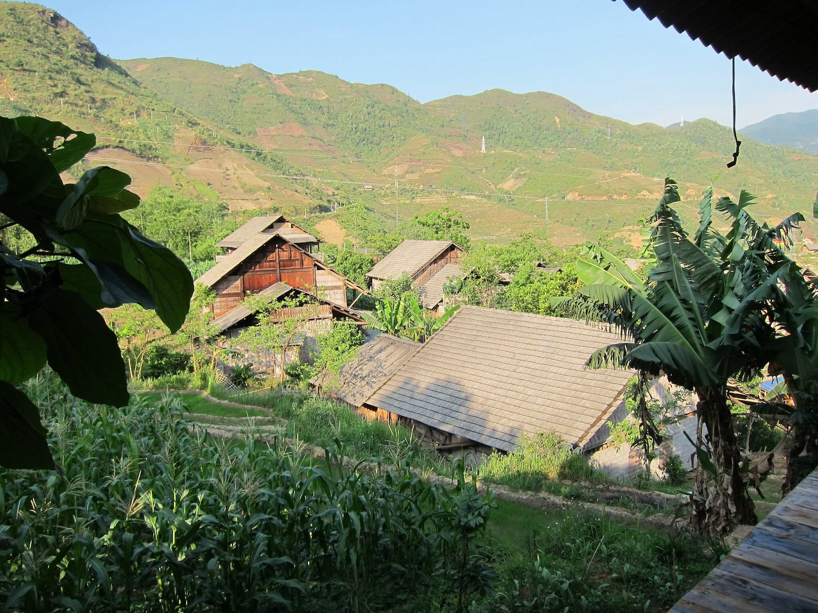 Image of a homestay in the mountains in Sapa, Vietnam