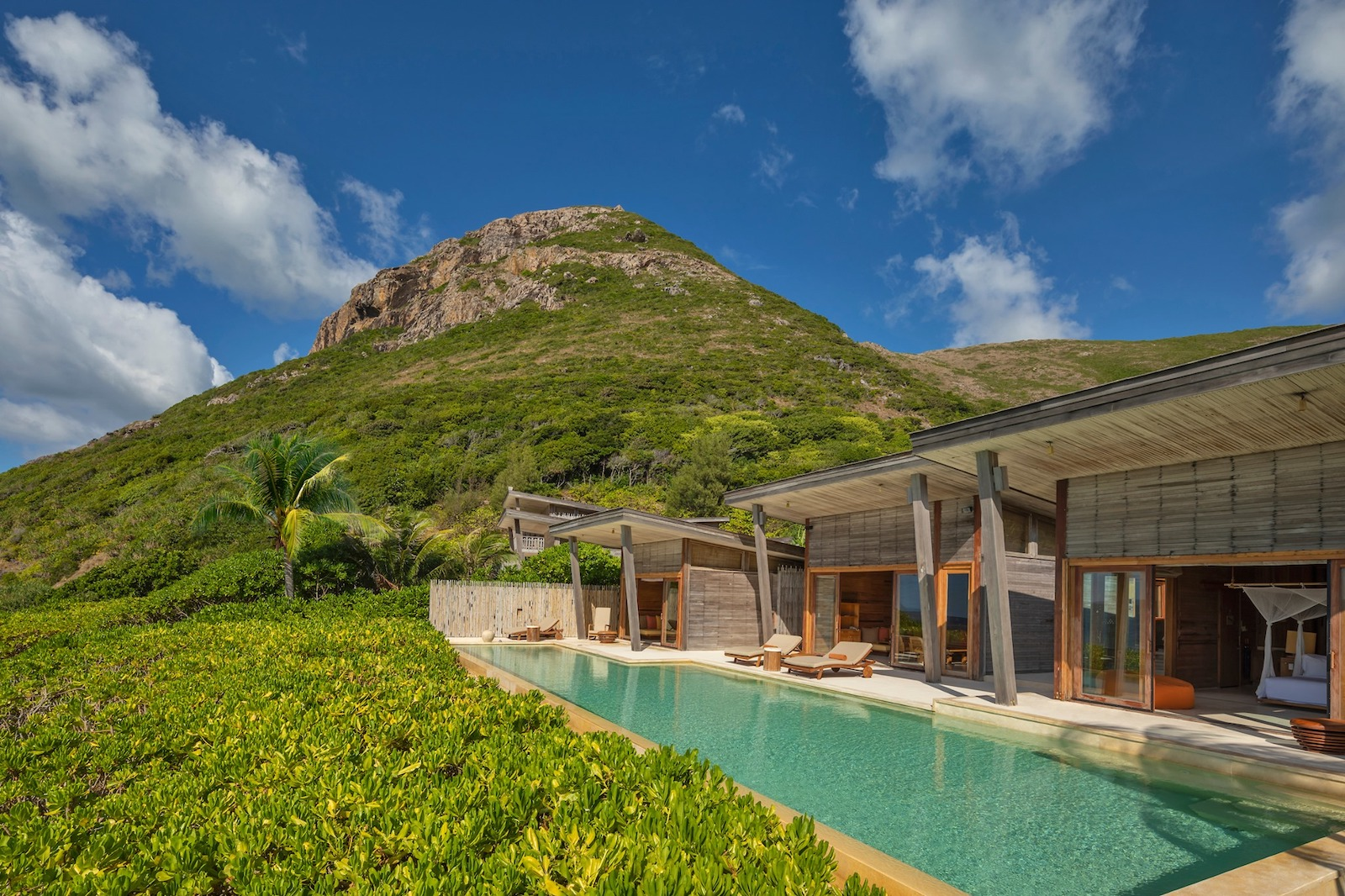Image of a pool at the SIx Senses Con Dao in Vietnam