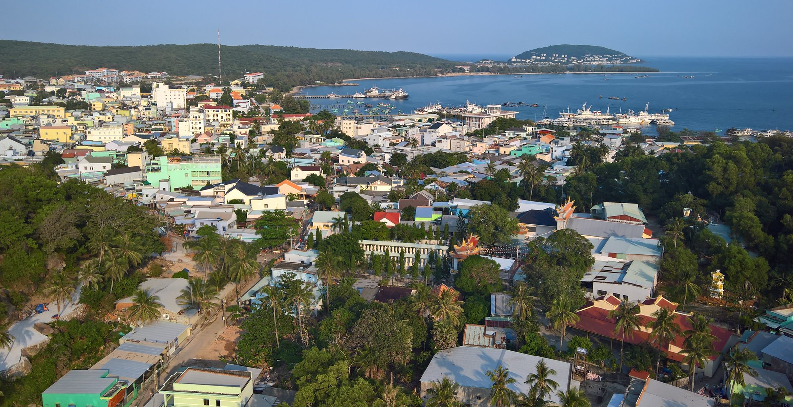 Town in Phu Quoc Vietnam