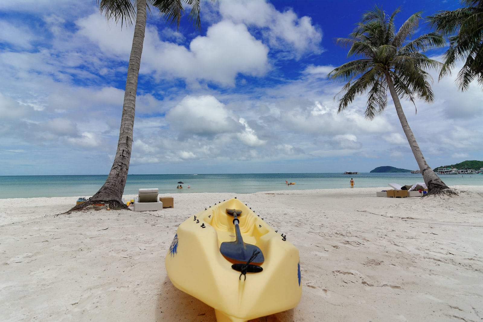 Image of a kayak at Phu Quoc Beach in Vietnam